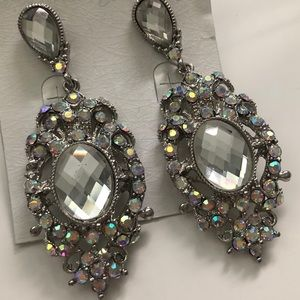 Beautiful Cubic Zirconia Chandelier Earrings